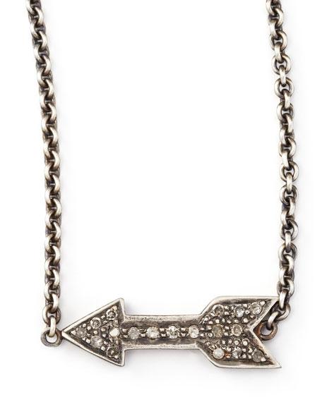 """Diamond Arrow Pendant Necklace, 26""""L"""