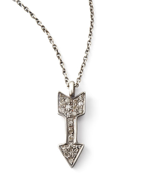 "Diamond Arrow Pendant Necklace, 18""L"