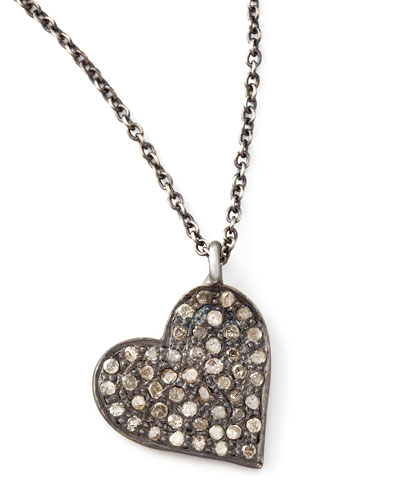 Zoe Chicco Diamond Heart Pendant Necklace