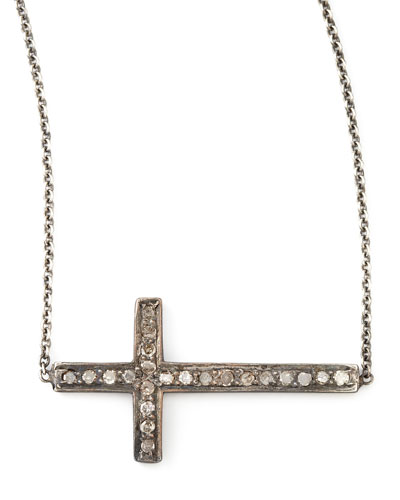 Zoe Chicco Pave Diamond Cross Necklace