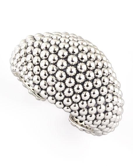 Bold Caviar Cuff, Large