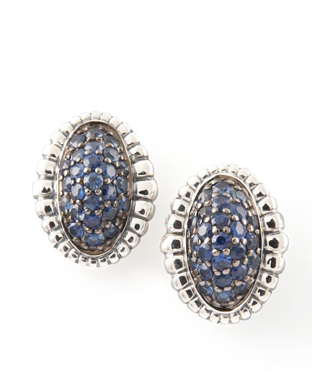 Muse Pave Sapphire Earrings