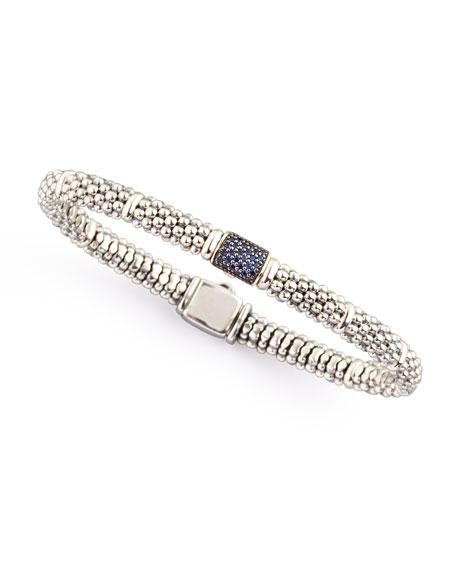 Muse Blue Sapphire Rope Bracelet