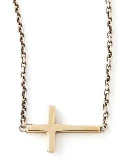 Zoe Chicco Integrated Gold Cross Pendant Necklace