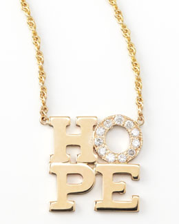 Zoe Chicco Pave Diamond Hope Pendant Necklace