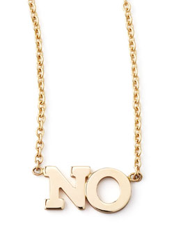 Zoe Chicco No Necklace, Gold