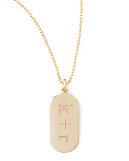 Zoe Chicco Initial Gold Pendant Necklace