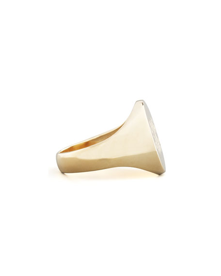 GOLD 3 INITIAL ENGRAVE RING