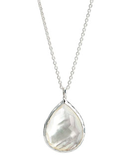 Ippolita Sterling Silver Teardrop Pendant Necklace, Mother-of-Pearl
