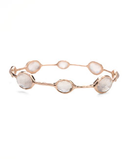 Ippolita Rose Clear Quartz Station Bangle