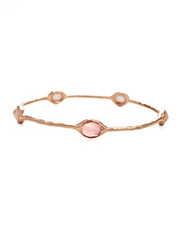 Ippolita Rose Rose Quartz Station Bangle