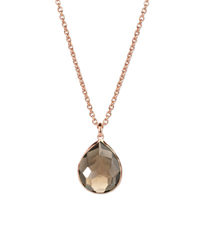 Ippolita Rose Smoky Teardrop Pendant Necklace