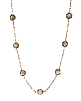 "Ippolita Rose Smoky Quartz Station Necklace, 18""L"
