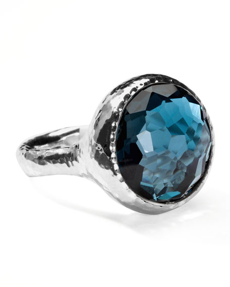 Lollipop London Blue Topaz Ring