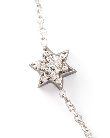 Diamond Star of David Necklace, White Gold