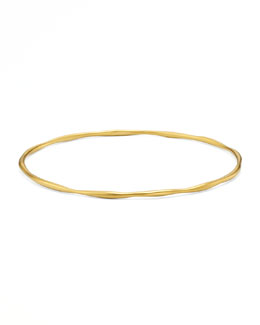 Ippolita Yellow Gold Squiggle Bangle