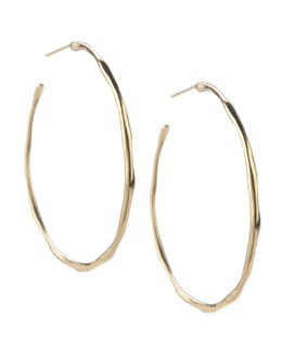 Ippolita Yellow Gold Squiggle Hoop Earrings