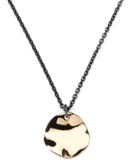 Notte Small Disc-Pendant Necklace