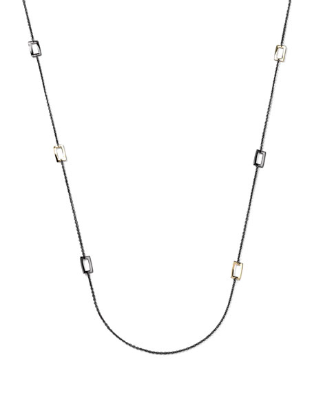 "Notte Rectangular-Station Necklace, 44""L"
