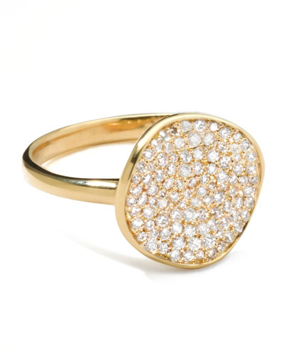 Stardust Diamond Disc Ring, 12mm