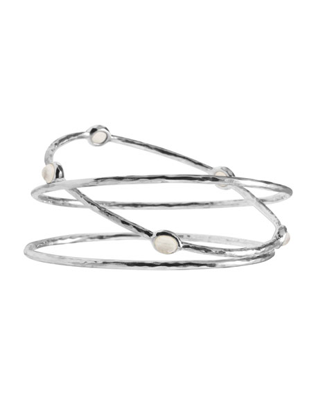 Mother-of-Pearl Bangles, Set of Three