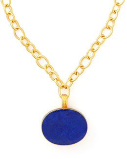 Dina Mackney Lapis Pendant Necklace