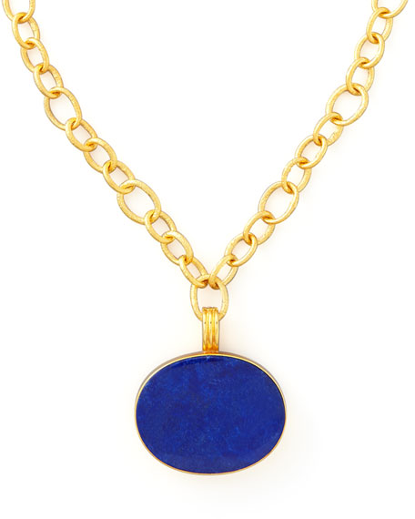 LAPIS GOLD PENDANT NECKLACE