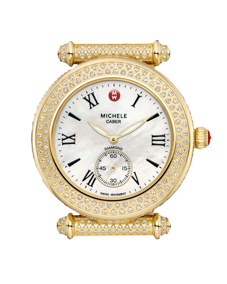 Caber Pave Diamond Watch Head, Gold