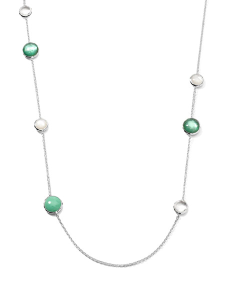 "Wonderland Lollipop Station Necklace, 40""L"