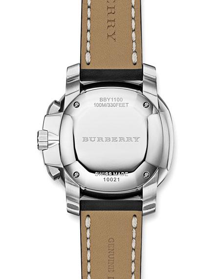 Oversized Chronograph Watch, Black