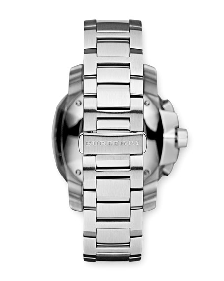 Oversized Stainless Steel Watch