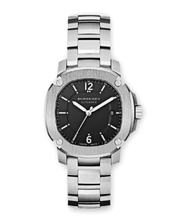 Burberry 43mm Automatic Stainless Steel Watch