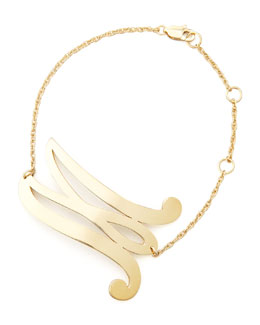Jennifer Zeuner Swirly Initial Bracelet