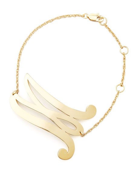 Swirly Initial Bracelet
