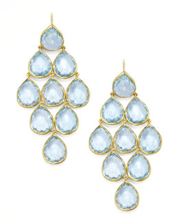 Ippolita Rock Candy Blue Topaz Cascade Earrings