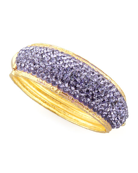 Pave Crystal Cuff, Lavender