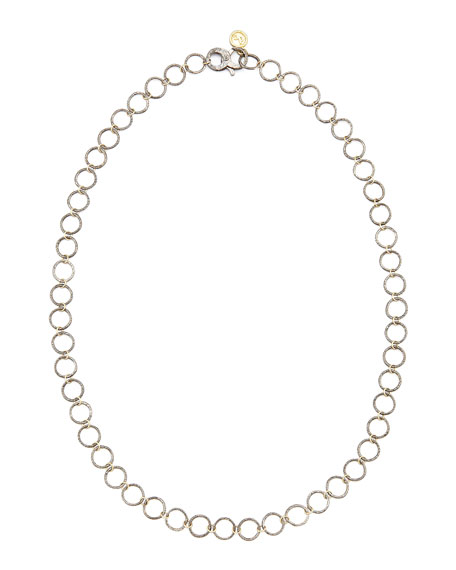 "Noir Yellow Gold Necklace, 24""L"