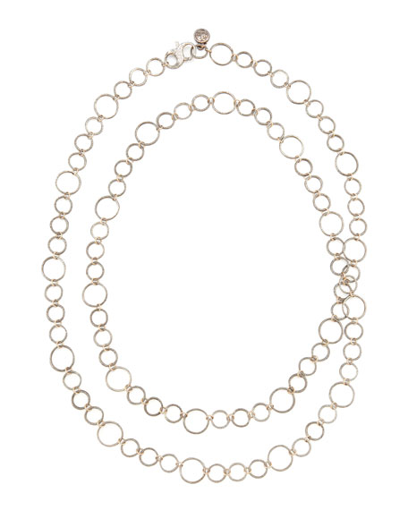 "Noir Rose Gold Necklace, 42""L"
