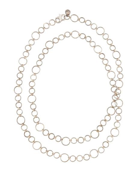 """Noir Rose Gold Necklace, 42""""L"""
