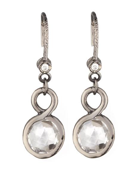 White Topaz Drop Earrings