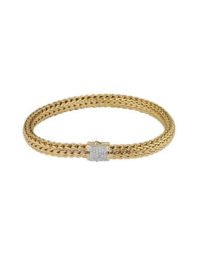 John Hardy Classic Chain 18k Gold & Diamond