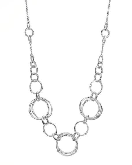 Bamboo Circle Sautoir Necklace