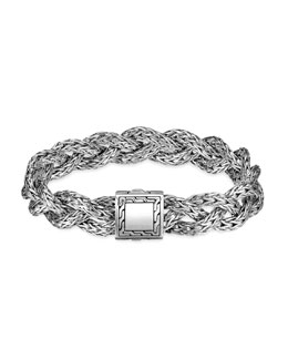 John Hardy Small Braided Chain Bracelet