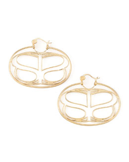 Simone I. Smith Yellow Gold Infinite Love Earrings, Large