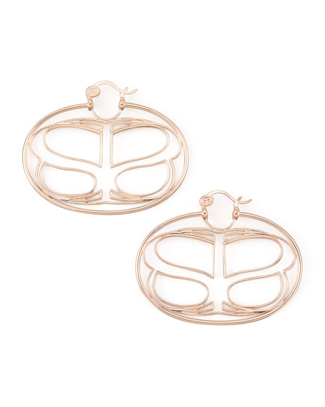 Rose Gold Infinite Love Earrings, Large
