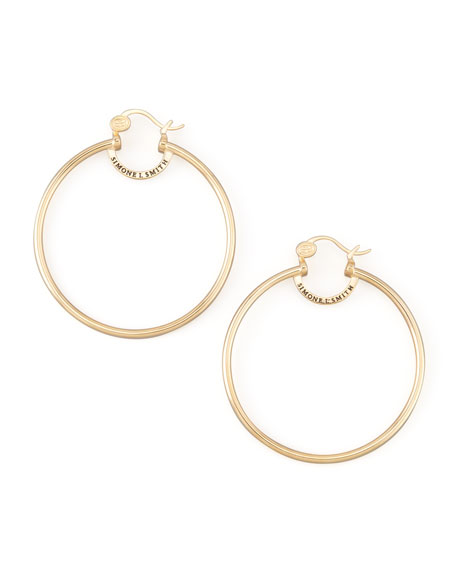 simone i smith yellow gold everlasting hoop earrings large