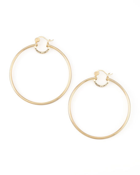 Yellow Gold Everlasting Hoop Earrings, Extra Large