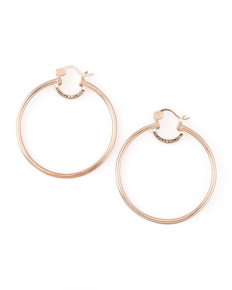 Rose Gold Everlasting Hoop Earrings, Large