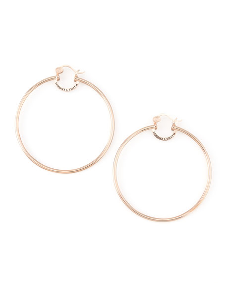 Rose Gold Everlasting Hoop Earrings, Extra Large