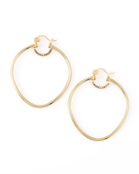 Yellow Gold Precious Fruit Hoop Earrings, Large